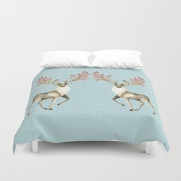 Deers With Birds #society6 #buyart Duvet Cover