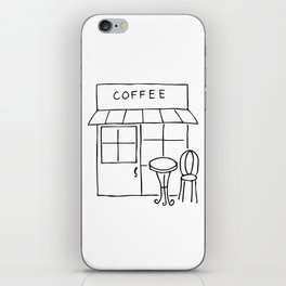 Little Coffee House // Cafe Sketch iPhone Skin
