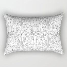 Desert Wallpaper B&W Rectangular Pillow