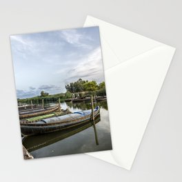 Boats in a lagoon port Stationery Cards