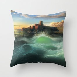 The Cemetery of the Chateau D'if Throw Pillow