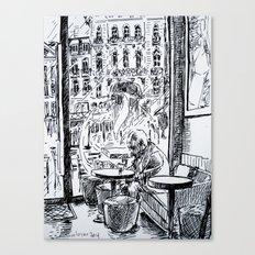 café matinal Canvas Print