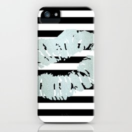 Stripes and Ice Kiss iPhone Case