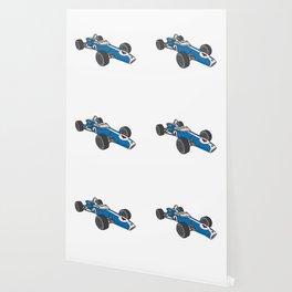 Blue vintage racing car / racecar Wallpaper