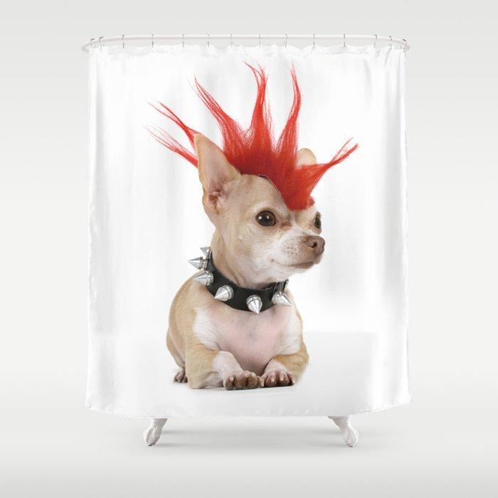 Punk Chihuahua Shower Curtain