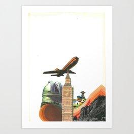 Leaving MoMo City Art Print