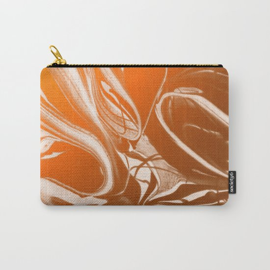 Copper Swirl - Copper, Bronze, gold and white metallic effect swirl pattern Carry-All Pouch