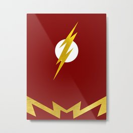 Minimalist 90s Flash Metal Print