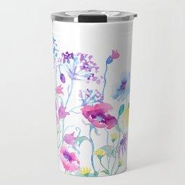 Watercolor Field of Pastel Travel Mug