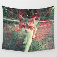 evil Wall Tapestries featuring Evil cat by Deprofundis
