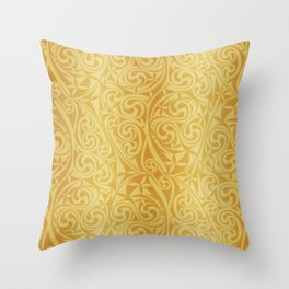 Celtic Warlord gold Throw Pillow