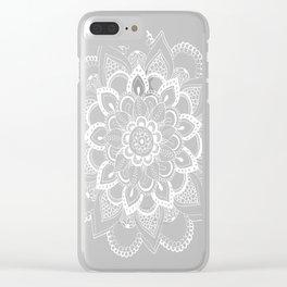 Winter Fountain Mandala Clear iPhone Case