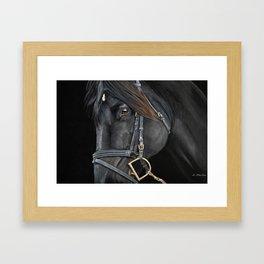 English Horse in Pastel Framed Art Print