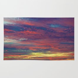 Cotton Candy coloured sky Rug