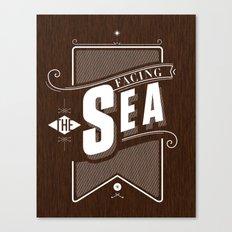 Facing The Sea Canvas Print