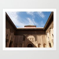 Marrakech courtyard Art Print