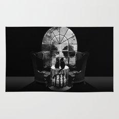 Room Skull B&W Rug