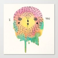 sloth Canvas Prints featuring sloth by Alba Blázquez