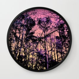 Forest (Sunrise) Wall Clock