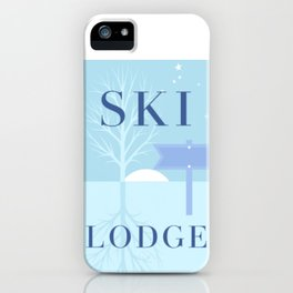 Ski Lodge - this way! iPhone Case