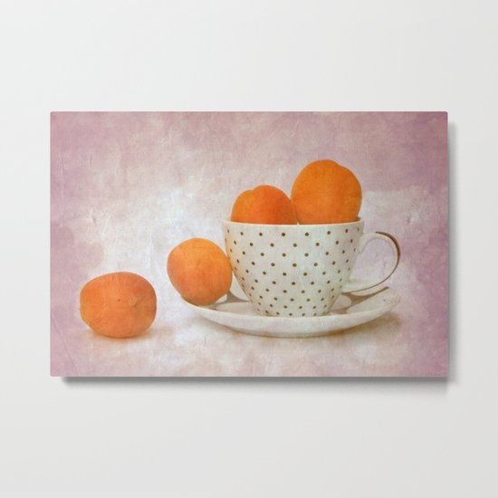 a cup full of apricots Metal Print