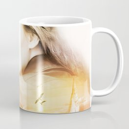 Woman Landscape Photo Manipulation Coffee Mug