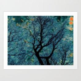 Moonlight Tree Art Print