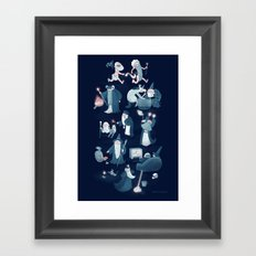 A Shared Flat for Wizards Framed Art Print