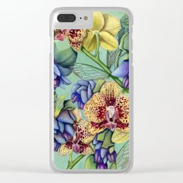 Lost Wing In Bloom Clear iPhone Case