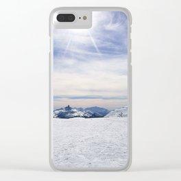 Little Whistler Peak Clear iPhone Case