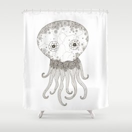 Cracked Octopus Shower Curtain