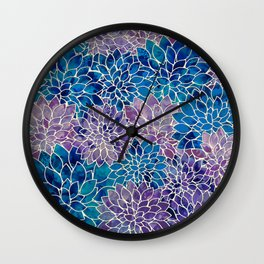Floral Abstract 34 Wall Clock