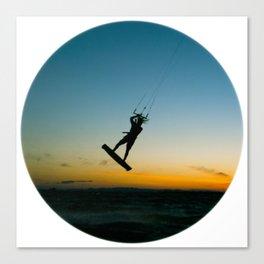 """""""LAUNCH""""  kitesurf . kite . surf Canvas Print"""