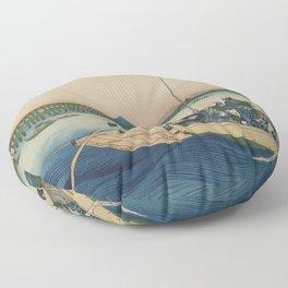 Sunset across the Sumida River Japan Floor Pillow