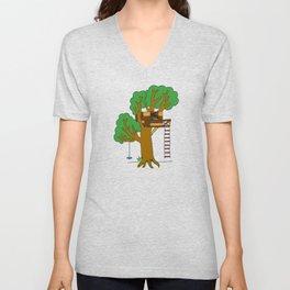 Treehouse Unisex V-Neck