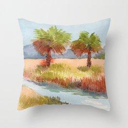Ranch Palms Throw Pillow