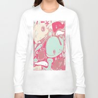 whales Long Sleeve T-shirts featuring Whales by Amy Gale