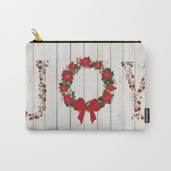 Joy Wreath #2 Carry-All Pouch