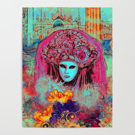 Turquoise Venice Poster