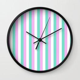 Spun Sugar Stripes Pattern Print Wall Clock