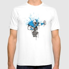 This is FOOTball White Mens Fitted Tee MEDIUM