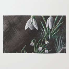 Snowdrop and a shoe Rug