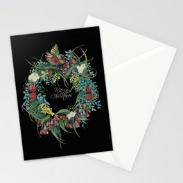 An Aussie Christmas BLACK Stationery Cards