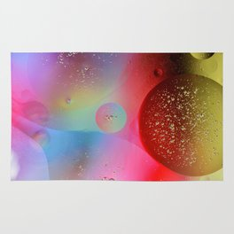 Digital Oil Drop Abstract Rug