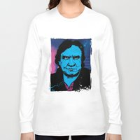 johnny cash Long Sleeve T-shirts featuring Johnny Cash by Todd Bane