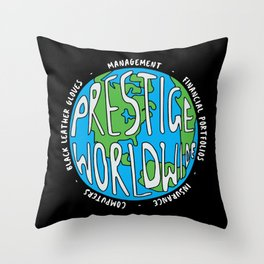 Prestige Worldwide Enterprise, The First Word In Entertainment, Step Brothers Original Design for Wa Throw Pillow