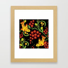 Fish khokhloma Framed Art Print