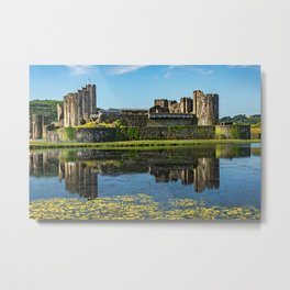 The Towers Of Caerphilly Castle Metal Print