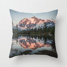 Cascade Sunset - Mt. Shuksan - Nature Photography Throw Pillow