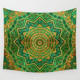 Jade Mandala Wall Tapestry